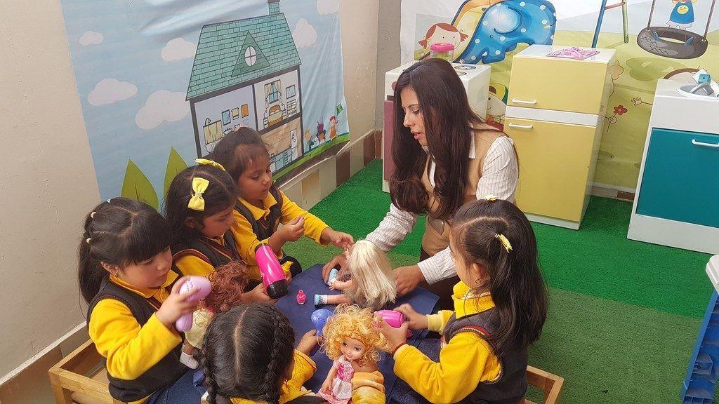 una mañana con los peques de inicial educando con emociones en Riobamba