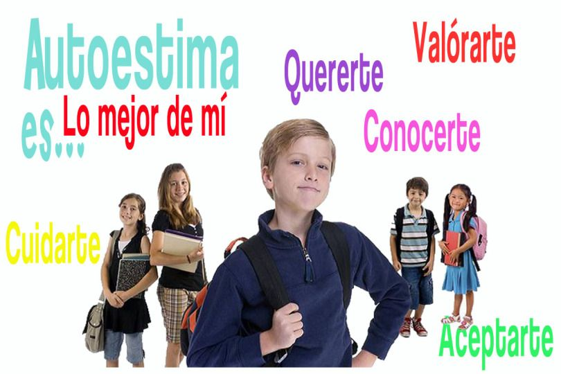 niños con alta autoestima en la escuela San pablo